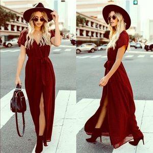 VICI Plaid Wrap Dress